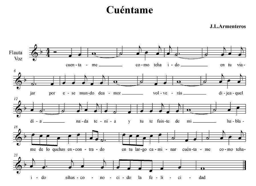 partituras para flauta. (PARTITURA partituras para