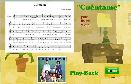Wix con partitura y play-back