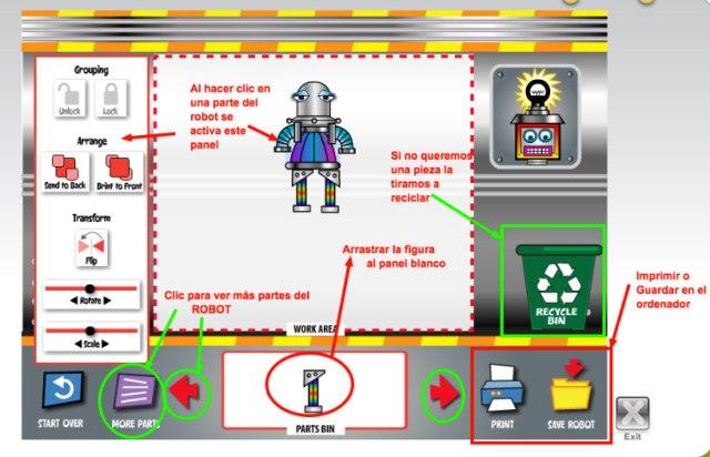 robot-instrucciones